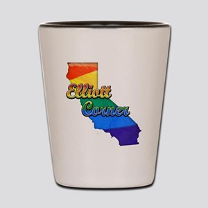 Elliott Corner, California. Gay Pride Shot Glass