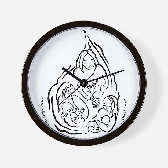 Breastfeeding Droplet Design Wall Clock