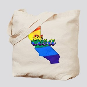 Elsa, California. Gay Pride Tote Bag