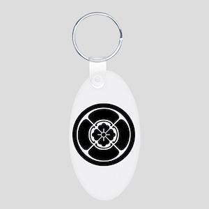 Square mokko in circle Aluminum Oval Keychain