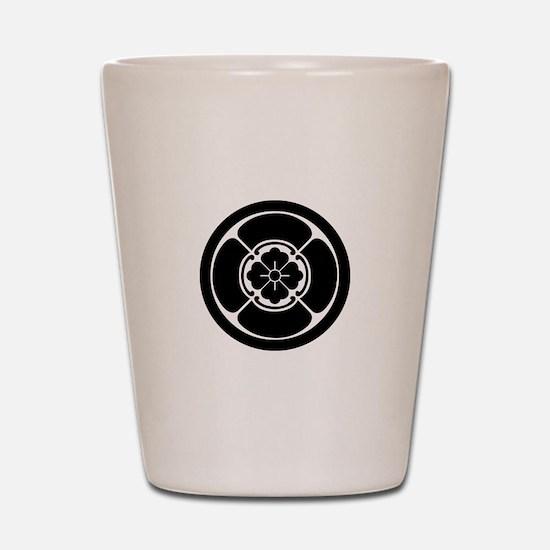 Square mokko in circle Shot Glass