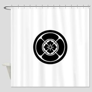 Square mokko in circle Shower Curtain