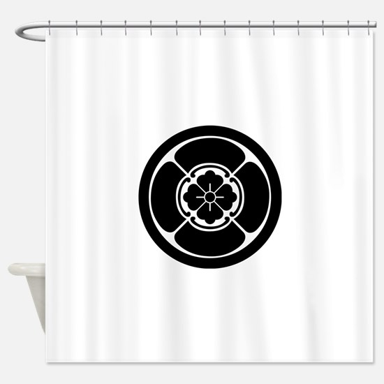 Square mokko in circle Shower Curtain