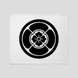 Square mokko in circle Throw Blanket