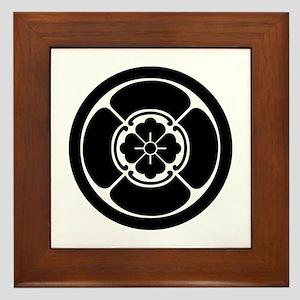 Square mokko in circle Framed Tile