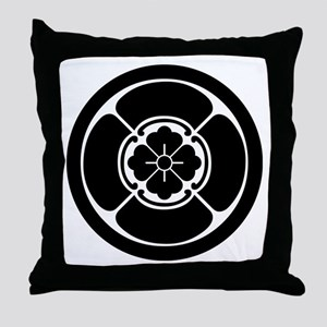 Square mokko in circle Throw Pillow