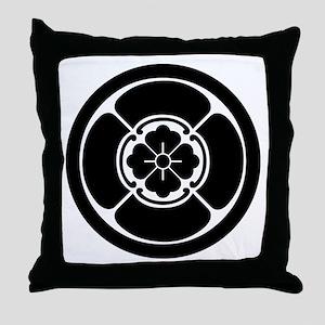 Square mokko in circle Throw Pillow