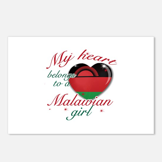 Malawian Valentine's designs Postcards (Package of