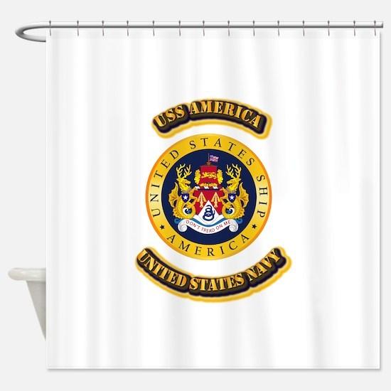US - NAVY - USS America Shower Curtain