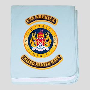 US - NAVY - USS America baby blanket