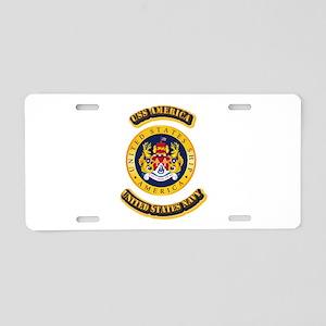 US - NAVY - USS America Aluminum License Plate