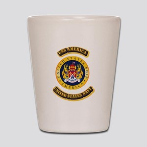 US - NAVY - USS America Shot Glass