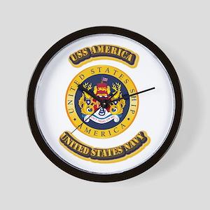 US - NAVY - USS America Wall Clock