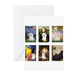 Maltese Famous Art (clr) Greeting Cards (Pk of 20)