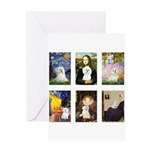 Maltese Famous Art (clr) Greeting Card