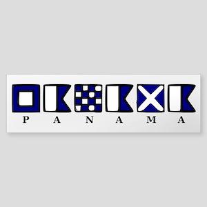 Nautical Panama Sticker (Bumper)
