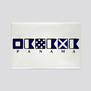 Nautical Panama Rectangle Magnet