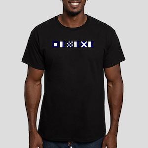 Nautical Panama Men's Fitted T-Shirt (dark)
