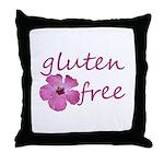 gluten-free hibiscus Throw Pillow