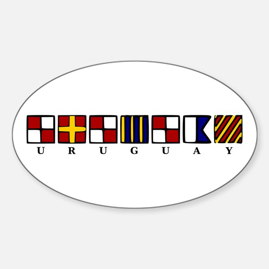 Nautical Uruguay Sticker (Oval)