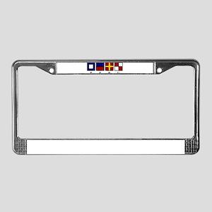 Nautical Peru License Plate Frame