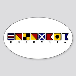Nautical Colombia Sticker (Oval)