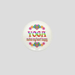 Yoga Happy Mini Button