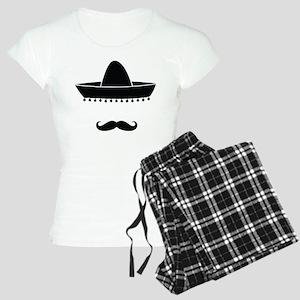 Mexican moustache Women's Light Pajamas