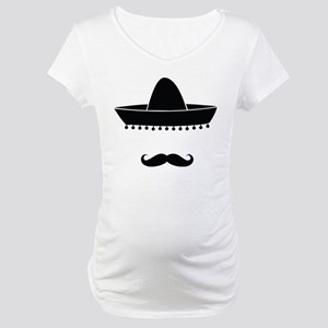 Mexican moustache Maternity T-Shirt