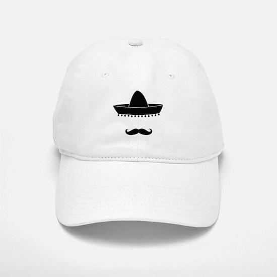 Mexican moustache Baseball Baseball Cap