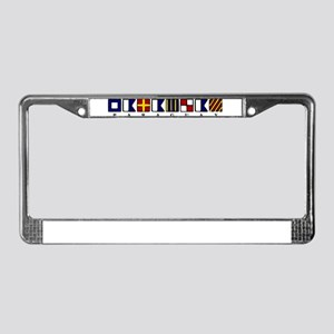 Nautical Paraguay License Plate Frame