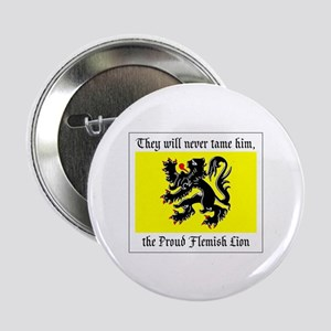 """Proud Flemish Lion 2.25"""" Button (10 pack)"""