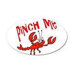 Pinch Me 22x14 Oval Wall Peel