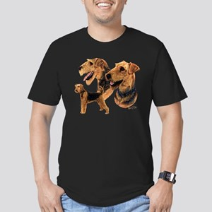 Airedale Terrier Men's Fitted T-Shirt (dark)