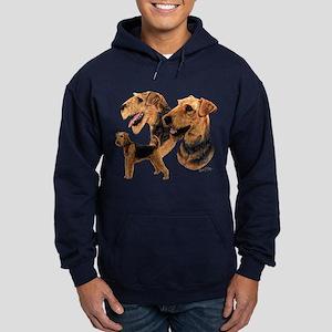 Airedale Terrier Hoodie (dark)
