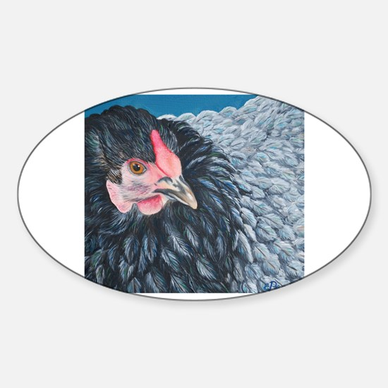 Rooster head Sticker (Oval)