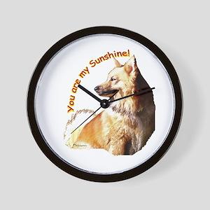 icelandic sheepdog Wall Clock