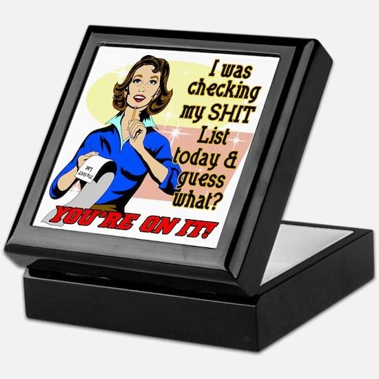 My @#$% List Retro 50's Humor Keepsake Box