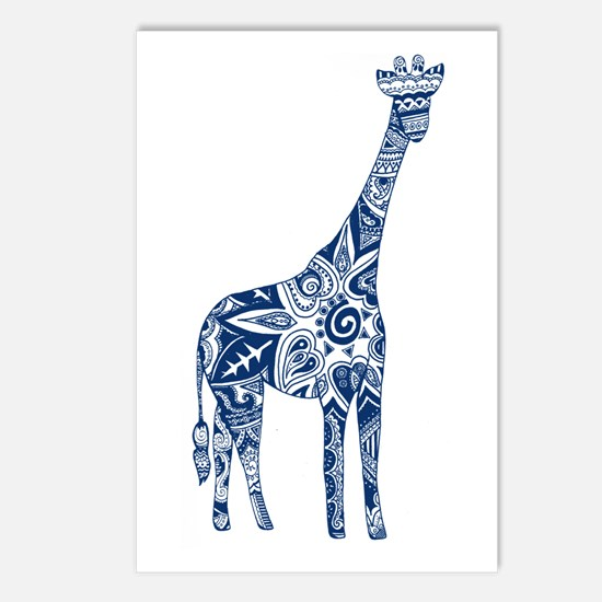 Navy Giraffe Postcards (Package of 8)