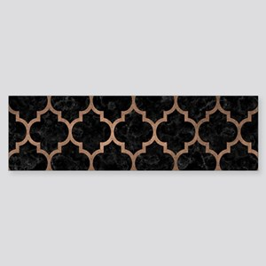 TILE1 BLACK MARBLE & BRONZE METAL Sticker (Bumper)