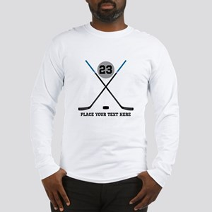 Ice Hockey Personalized Long Sleeve T-Shirt