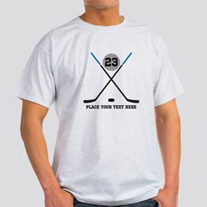 Ice Hockey Personalized Light T-Shirt
