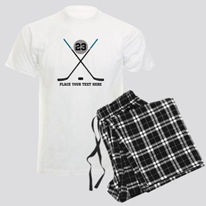 Ice Hockey Personalized Men's Light Pajamas