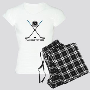 Ice Hockey Personalized Women's Light Pajamas