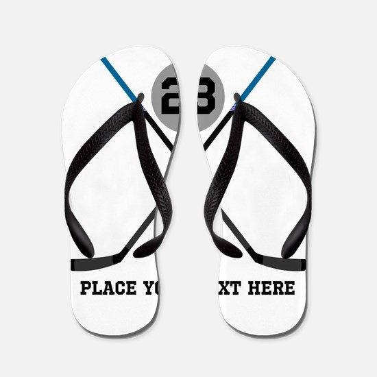 Ice Hockey Personalized Flip Flops