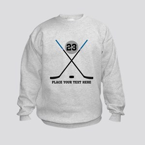 Ice Hockey Personalized Kids Sweatshirt