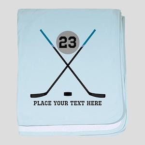 Ice Hockey Personalized baby blanket
