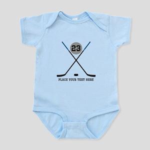 Ice Hockey Personalized Infant Bodysuit
