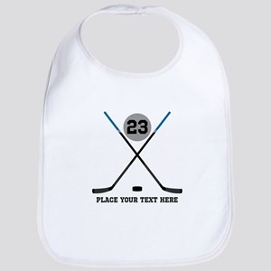 Ice Hockey Personalized Cotton Baby Bib