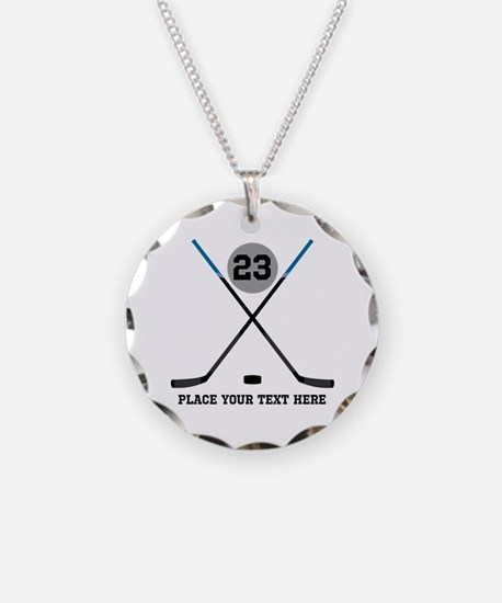 Ice Hockey Personalized Necklace